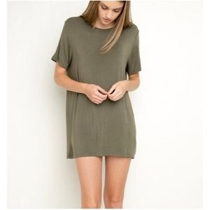Brandy Melville | Green T-Shirt Dress